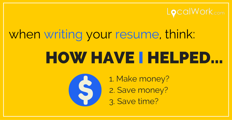 What to write on your resume.