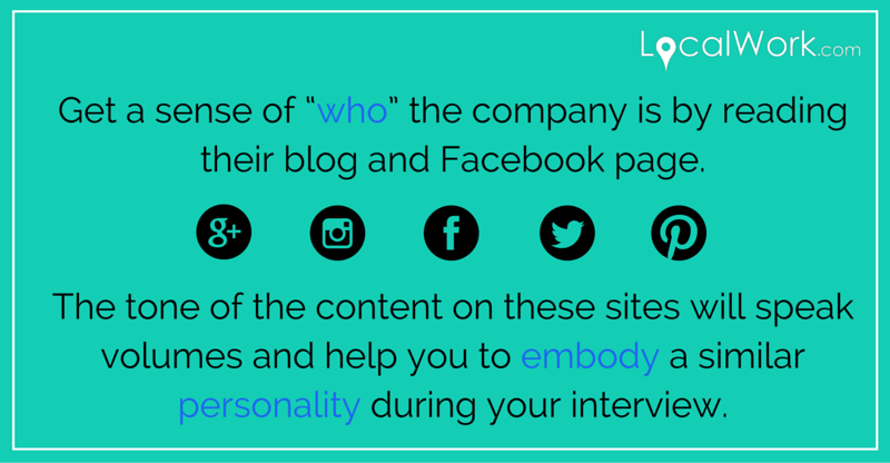 Interview Prep Tip: Look at company's social media