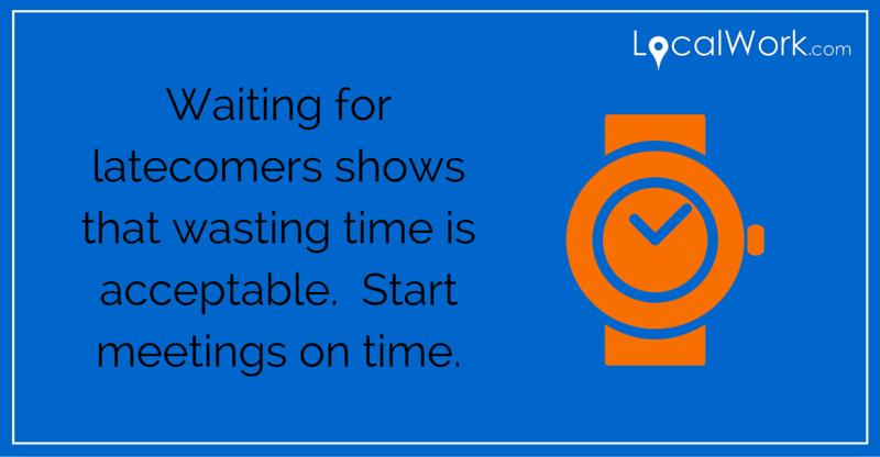 Start meetings on time