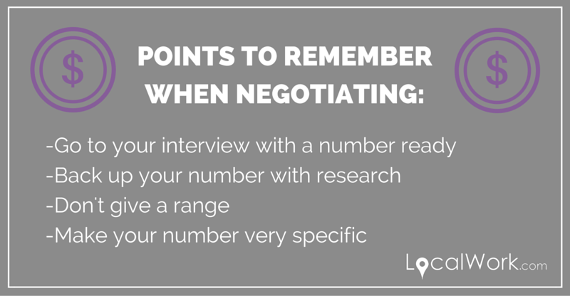 Points to remember when negotiating
