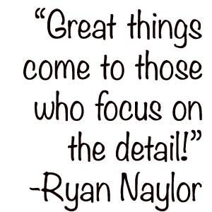 Focus on detail